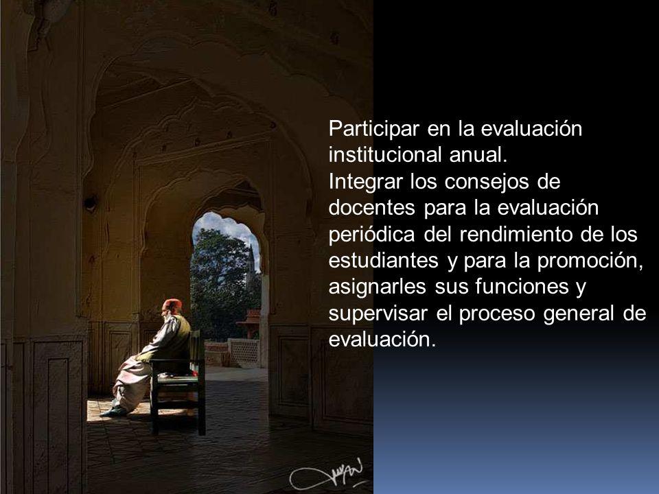 Funciones Servir de órgano consultor del consejo directivo en la revisión de la Propuesta del P.E.I.