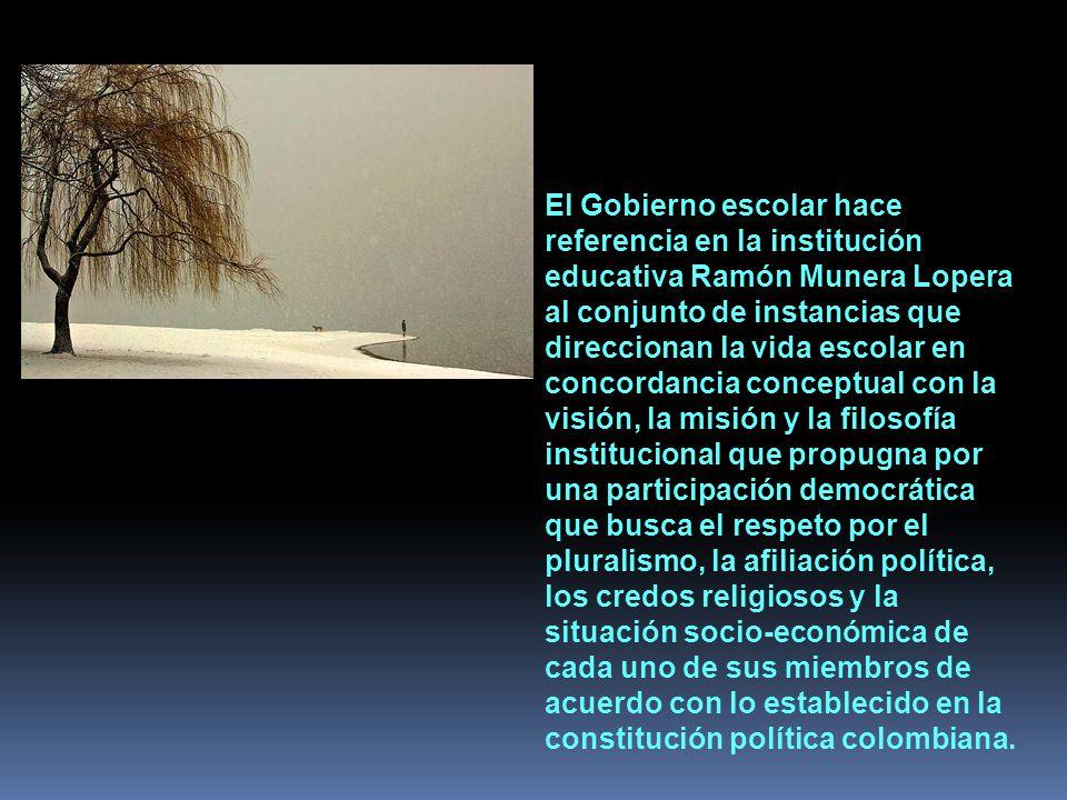 Componentes administrativos. Gobierno Escolar.