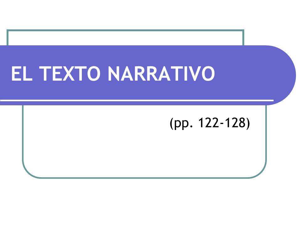 EL TEXTO NARRATIVO (pp. 122-128)