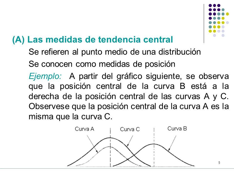4 5.1 La estadística de resumen Después de construir tablas y gráficos, a partir de una colección de datos, se requieren medidas más exactas.