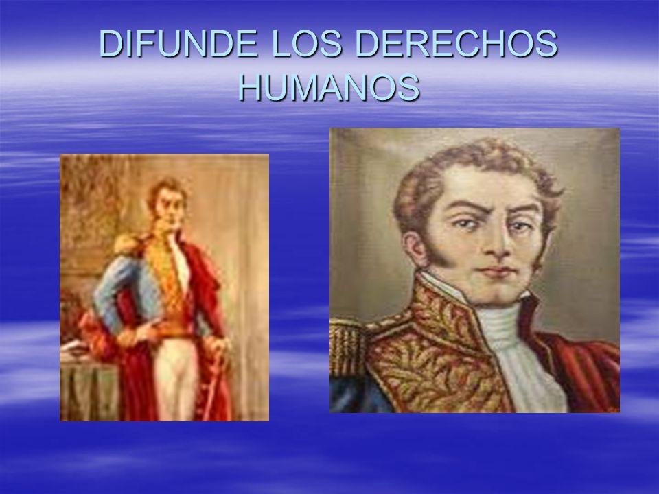 DIFUNDE LOS DERECHOS HUMANOS
