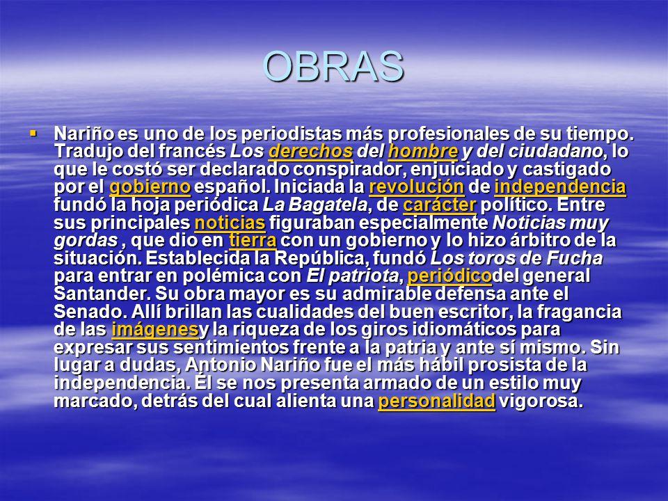 OBRAS Nariño es uno de los periodistas más profesionales de su tiempo.