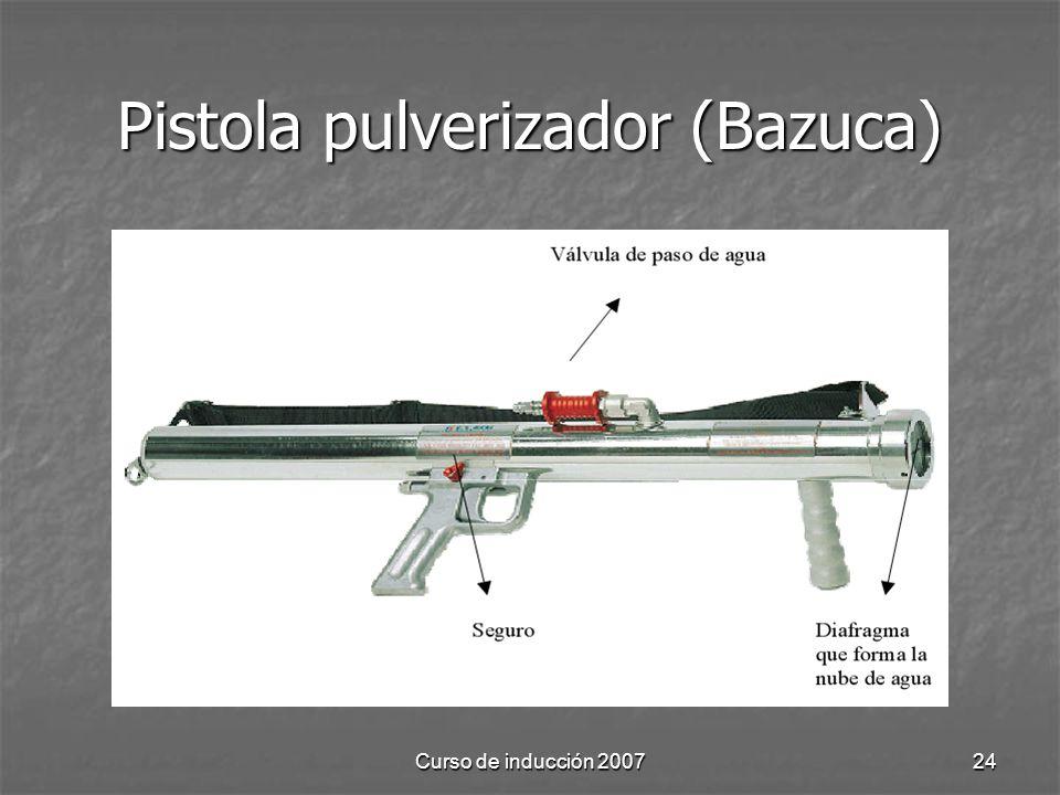 Curso de inducción 200724 Pistola pulverizador (Bazuca)