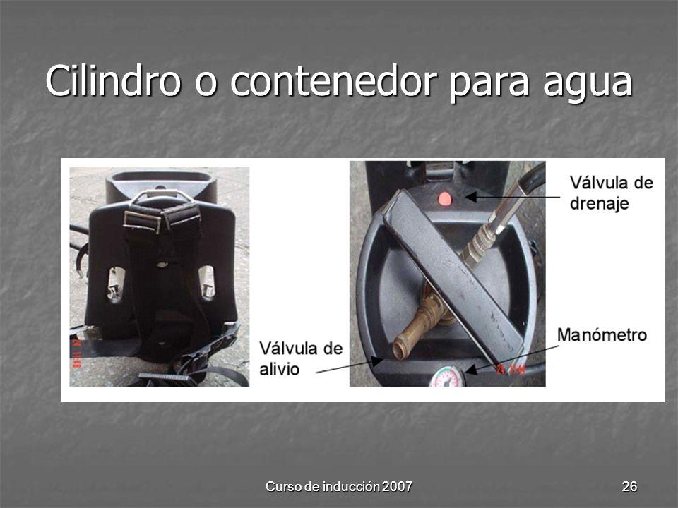 Curso de inducción 200726 Cilindro o contenedor para agua