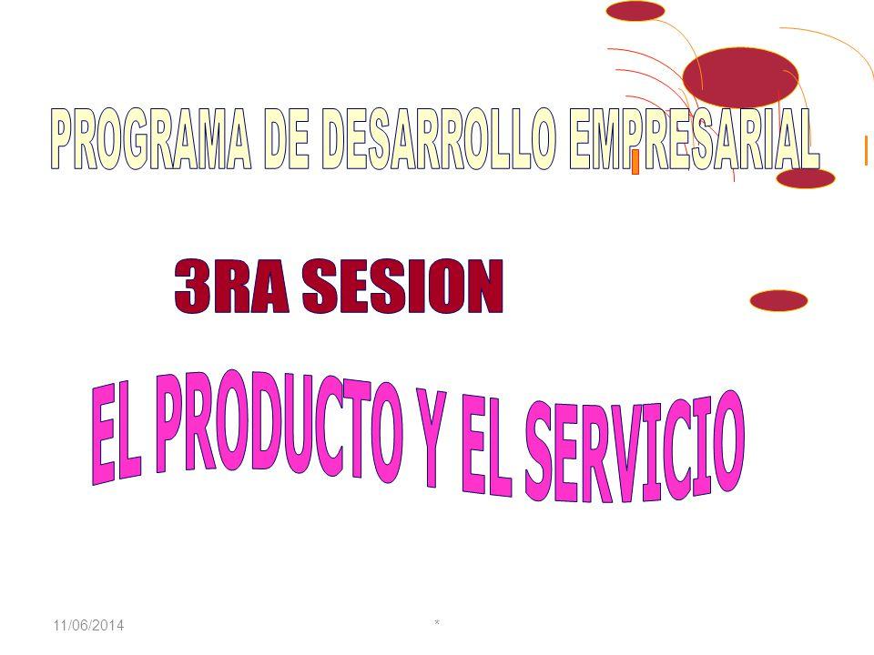 11/06/2014* Experiencia formando Empresarios Lideres.