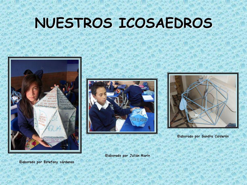 NUESTROS ICOSAEDROS Elaborado por Estefany cárdenas Elaborado por Julián Marín Elaborado por Sandra Calderón