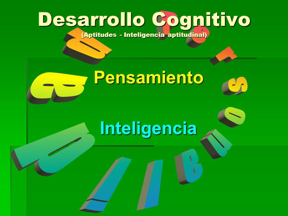 PensamientoInteligencia Desarrollo Cognitivo (Aptitudes - Inteligencia aptitudinal)