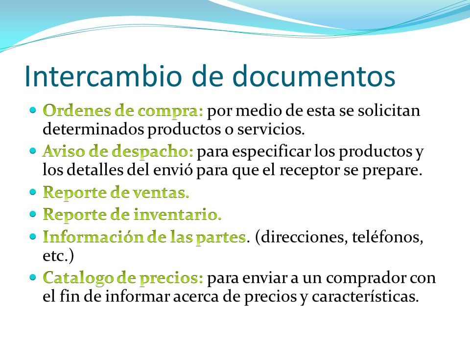 Intercambio de documentos