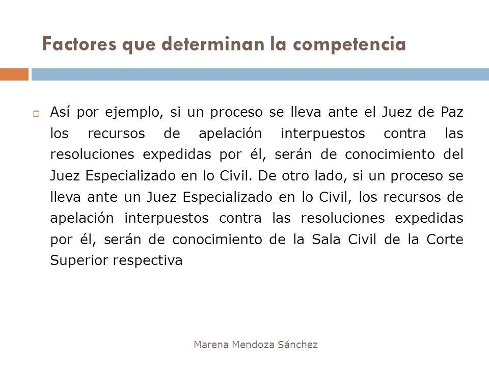 Marena Mendoza Sánchez Así por ejemplo, si un proceso se lleva ante el Juez de Paz los recursos de apelación interpuestos contra las resoluciones expe