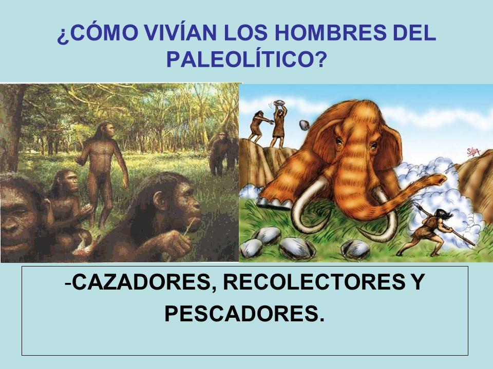 ¿CÓMO VIVÍAN LOS HOMBRES DEL PALEOLÍTICO? -CAZADORES, RECOLECTORES Y PESCADORES.