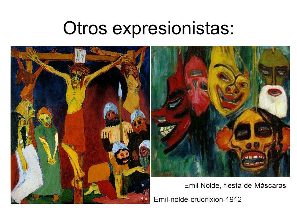 Otros expresionistas: Emil Nolde, fiesta de Máscaras Emil-nolde-crucifixion-1912