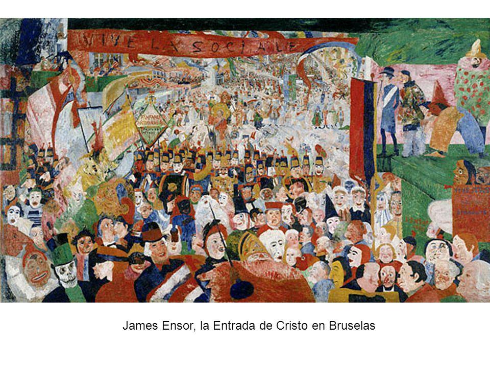 James Ensor, la Entrada de Cristo en Bruselas