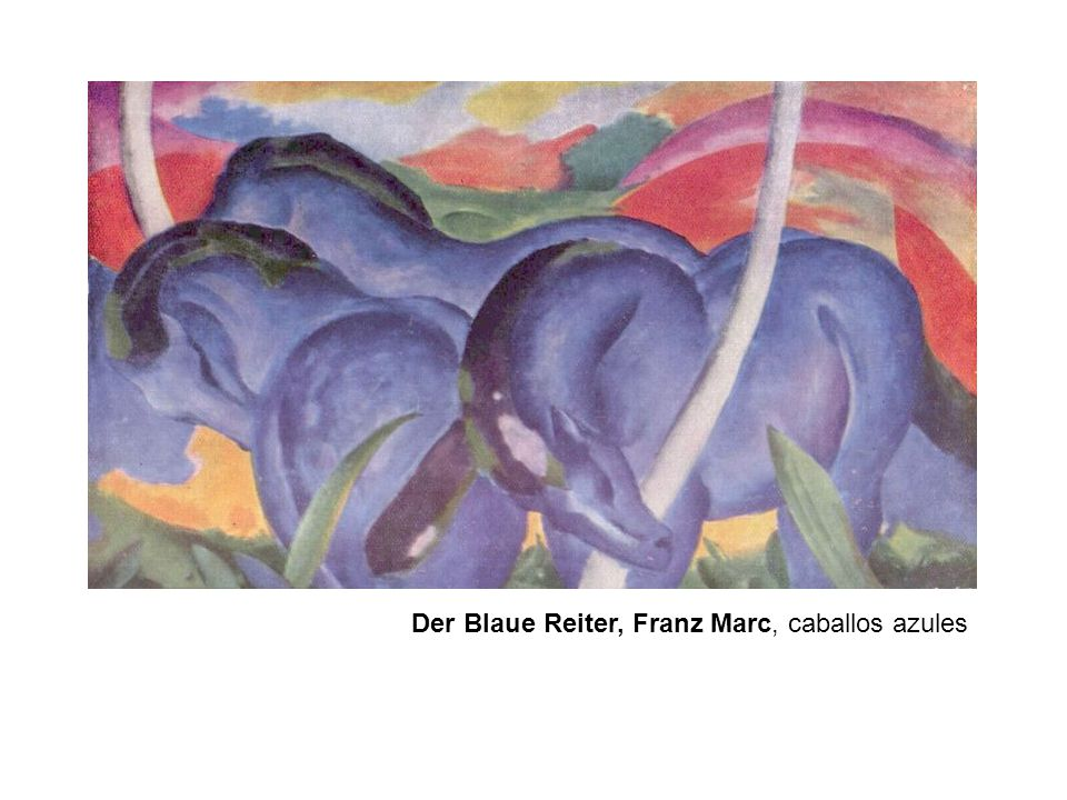 Der Blaue Reiter, Paul Klee Der Blaue Reiter, Kandinsky s Der Blaue Reiter (1903).