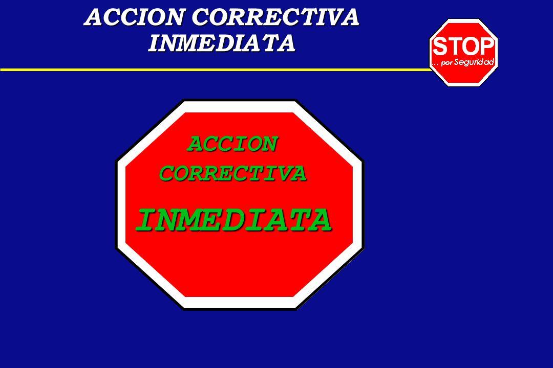 ACCION CORRECTIVA INMEDIATA.. ACCIONCORRECTIVAINMEDIATA