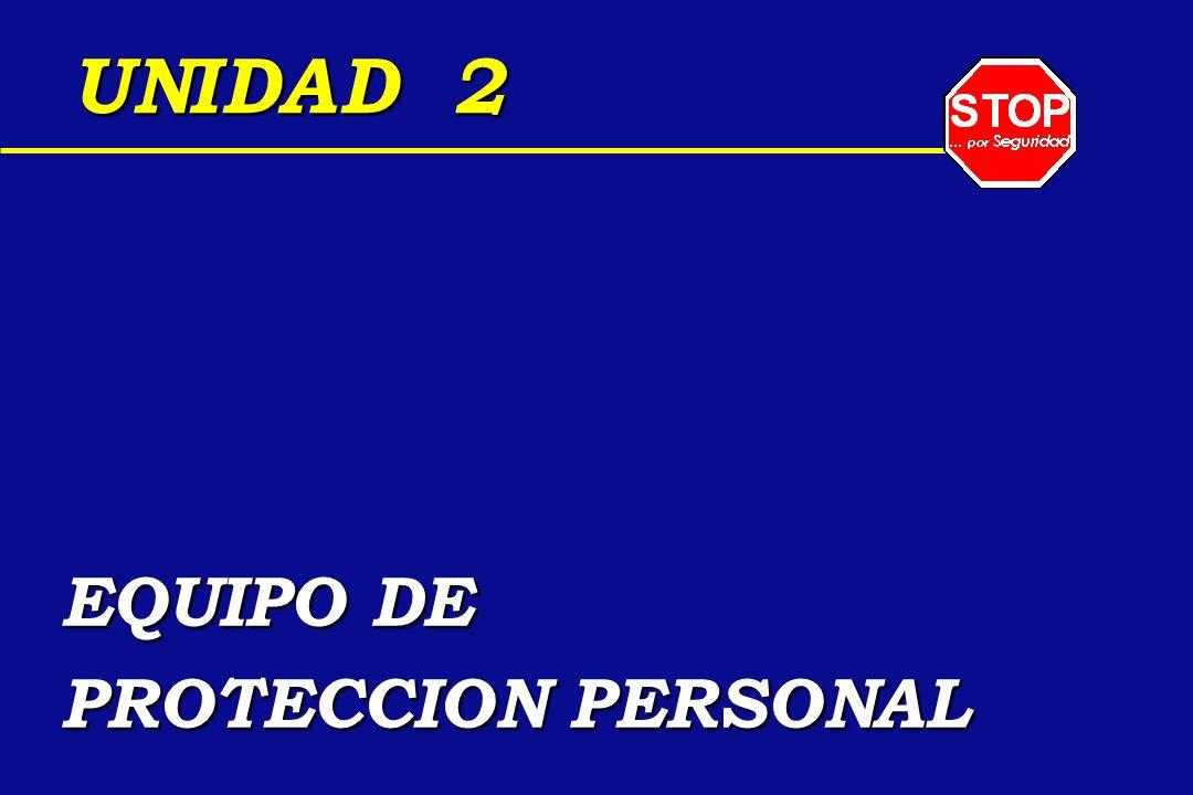 UNIDAD 2 EQUIPO DE PROTECCION PERSONAL