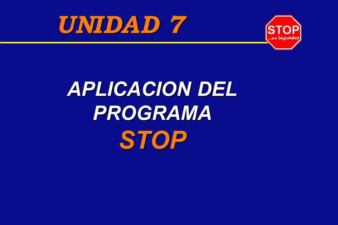 APLICACION DEL PROGRAMA STOP UNIDAD 7