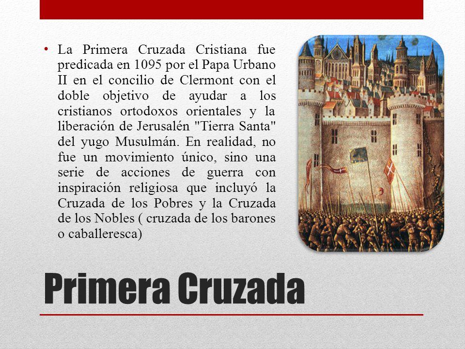 Segunda Cruzada La Segunda Cruzada (1147-1149) fue la segunda gran cruzada lanzado desde Europa.