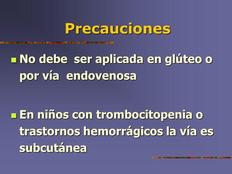 Vía de administración Dosis : 0.5 ml Dosis : 0.5 ml Vía: en masa muscular del deltoideo o en cuadrante superior externo del glúteo Vía: en masa muscular del deltoideo o en cuadrante superior externo del glúteo