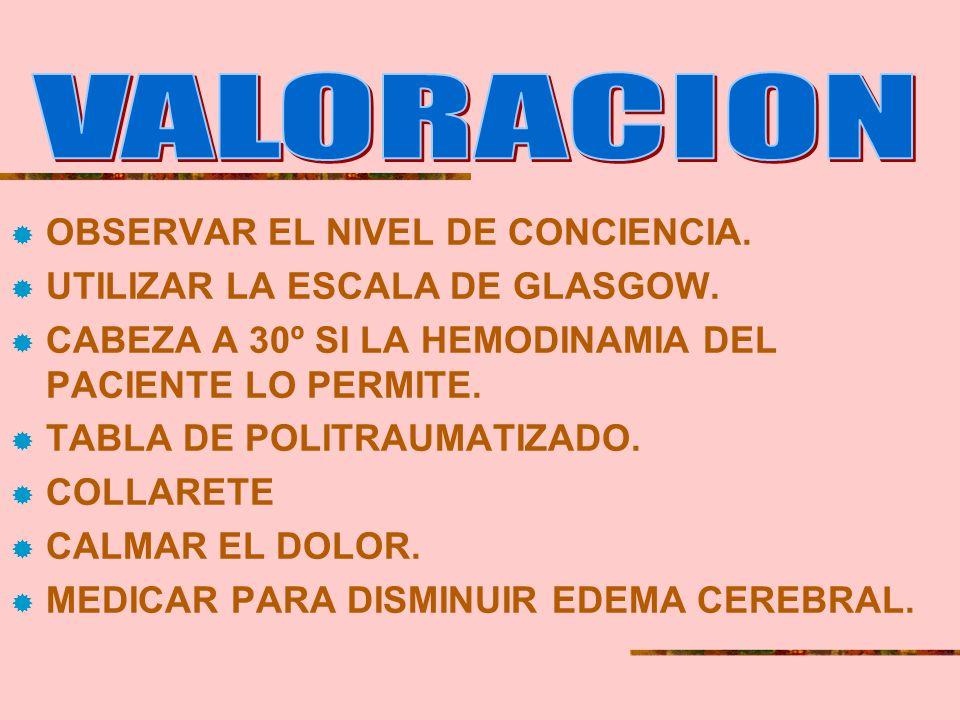 NEUROLOGICO: (TEC) Hematoma extradural ( hemorragia quirúrgica por excelencia). Hematoma subdural (puede esperar, sangrado venoso). Fractura cervical