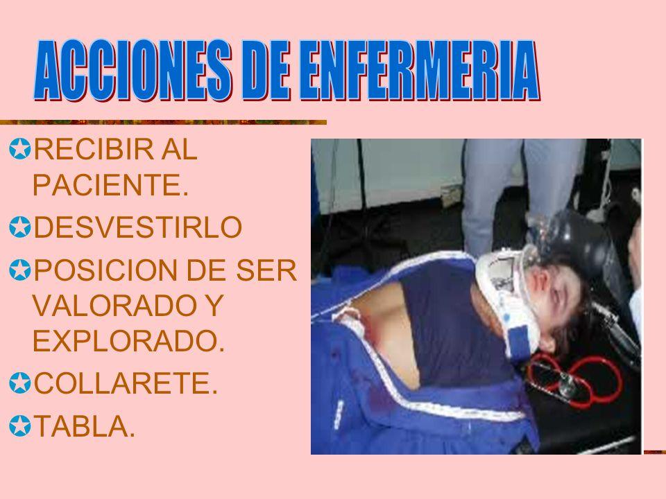 Importancia de la valoración: Revisar desde la cabeza a los pies en busca de sangrado, perdida de LCR (nariz, oído). Examinar cabeza, maxilares, conci