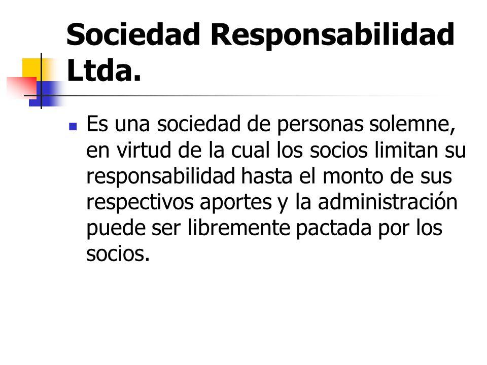 Sociedad Responsabilidad Ltda.