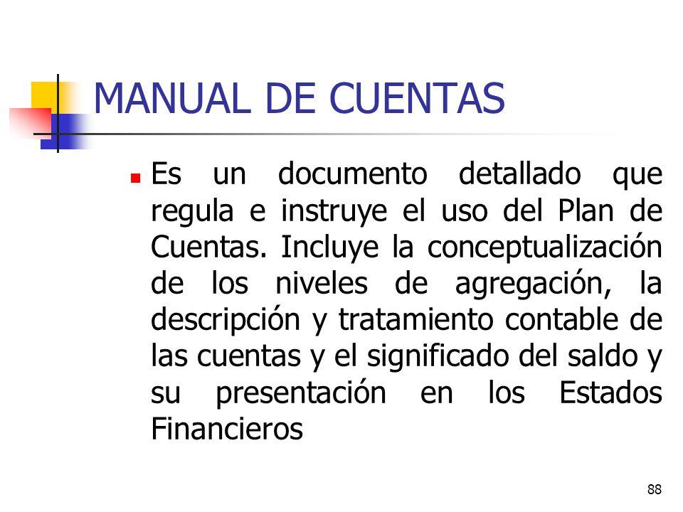 87 LIBRO MAYOR En el Libro Mayor se registran los cargos y abonos de un cuenta a partir de las anotaciones efectuadas en el Libro Diario.
