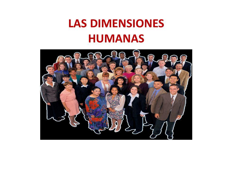 LAS DIMENSIONES HUMANAS