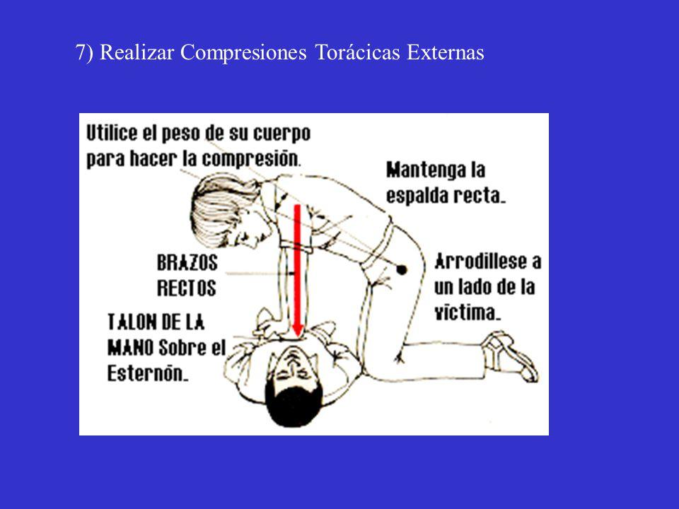 7) Realizar Compresiones Torácicas Externas