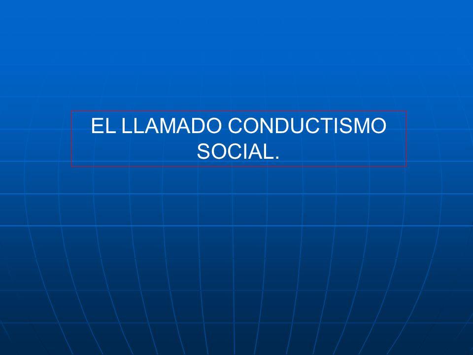 TEORÍAS DEL APRENDIZAJE. 1. CONDUCTISMO. WATSON Y SKINNER. 2. APRENDIZAJE SOCIAL DE BANDURA.