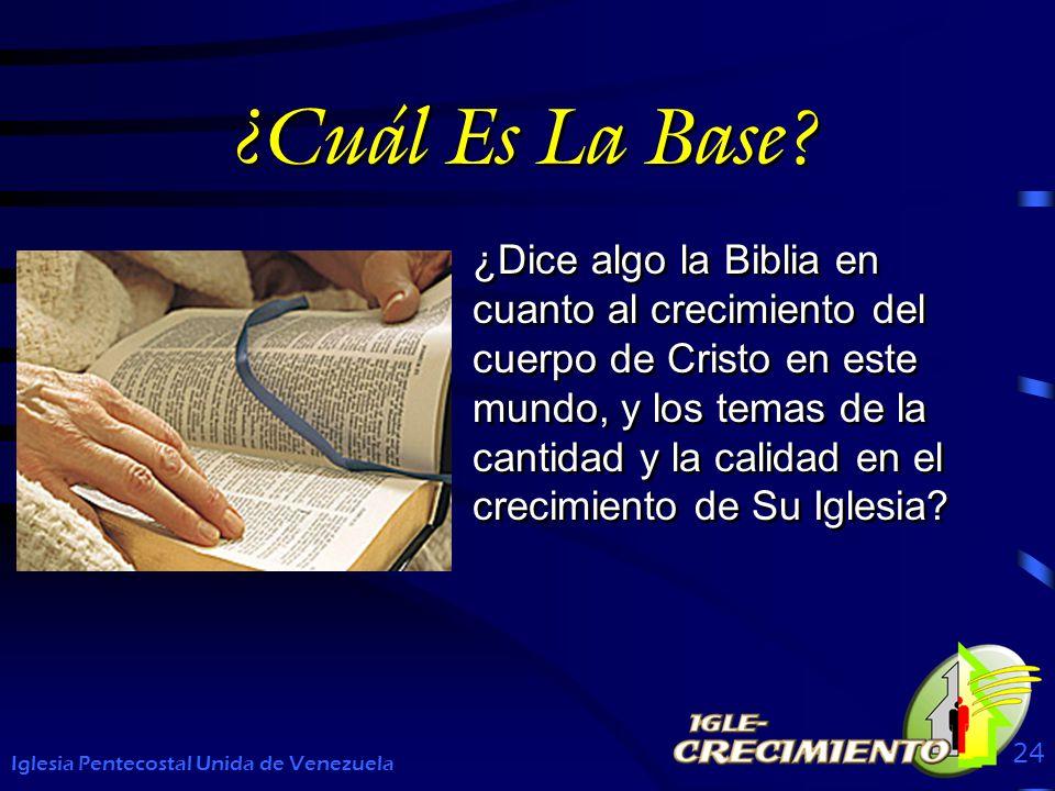 ¿Cuál Es La Base? ¿Dice algo la Biblia en cuanto al crecimiento del cuerpo de Cristo en este mundo, y los temas de la cantidad y la calidad en el crec