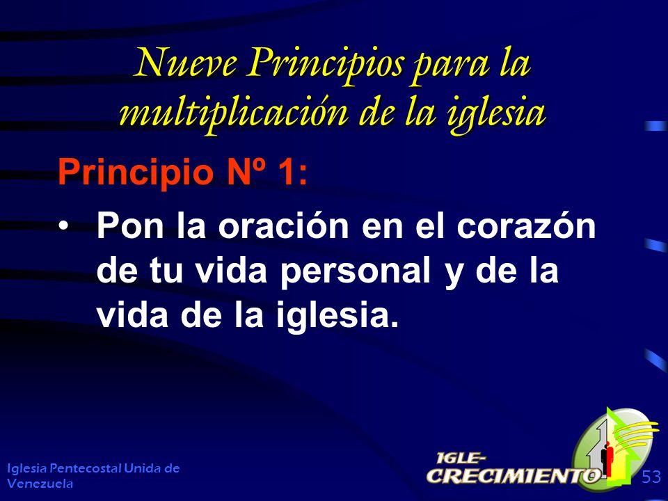 Nueve Principios para la multiplicación de la iglesia Principio Nº 1: Pon la oración en el corazón de tu vida personal y de la vida de la iglesia.