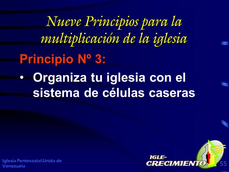 Nueve Principios para la multiplicación de la iglesia Principio Nº 3: Organiza tu iglesia con el sistema de células caseras Iglesia Pentecostal Unida