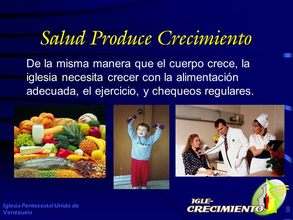 Salud Produce Crecimiento De la misma manera que el cuerpo crece, la iglesia necesita crecer con la alimentación adecuada, el ejercicio, y chequeos regulares.