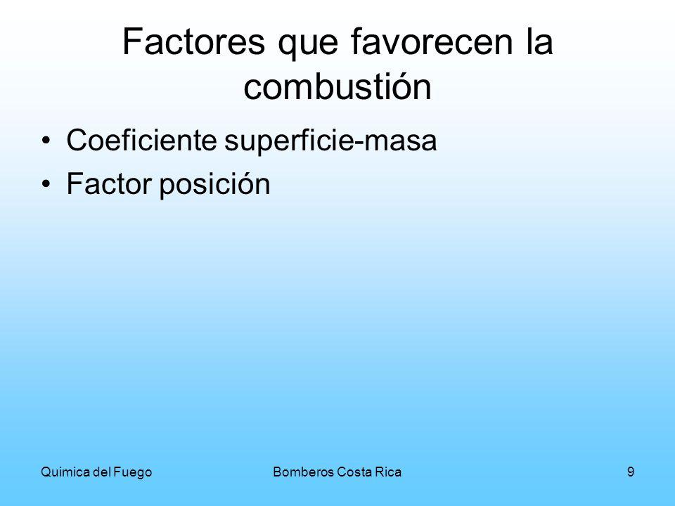 Quimica del FuegoBomberos Costa Rica10 Definición del Fuego Es la reacción de un material combustible Es una oxidación rápida con desprendimientos de luz y calor Es una reacción química, inducida por el calor provocando el rompimiento de enlaces en las moléculas, produciendo más calor, gases y luz