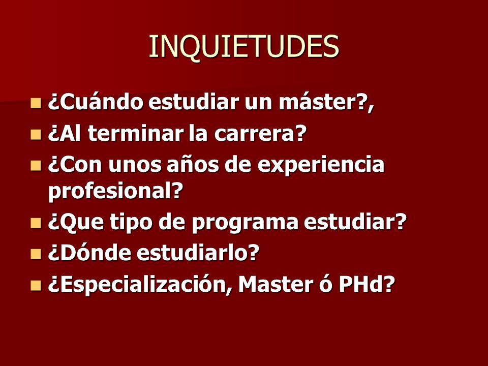 !Quiero Estudiar un postgrado!