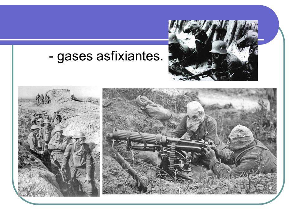- gases asfixiantes.