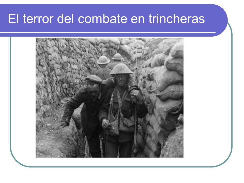 El terror del combate en trincheras