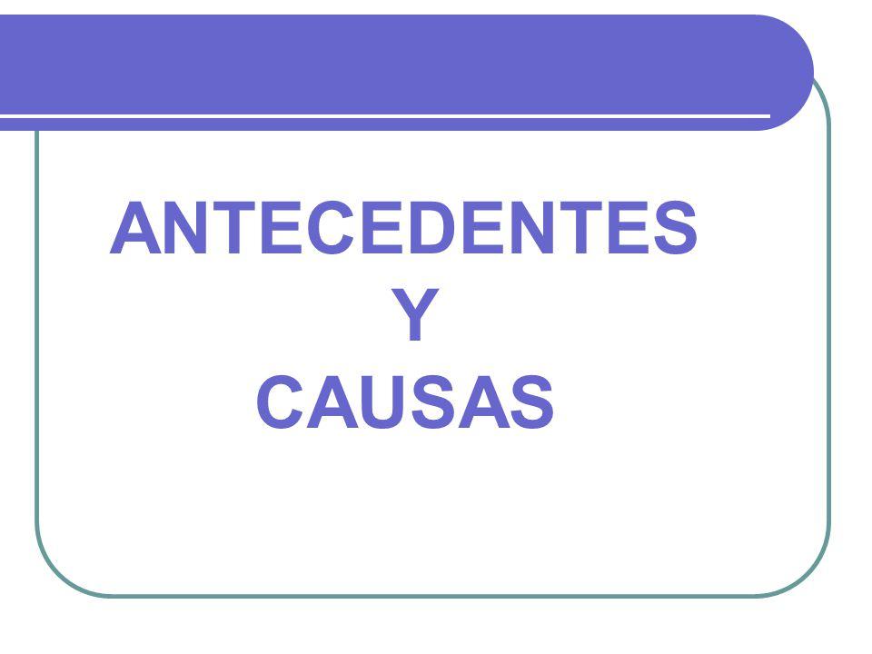 ANTECEDENTES Y CAUSAS