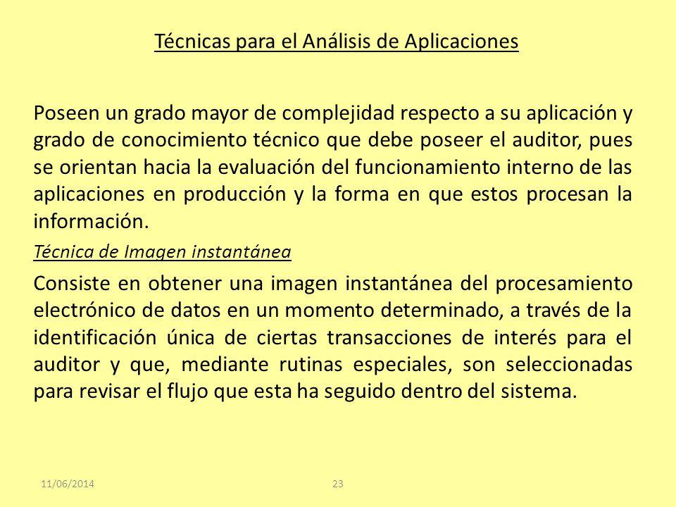 Técnicas para el Análisis de Aplicaciones Poseen un grado mayor de complejidad respecto a su aplicación y grado de conocimiento técnico que debe posee