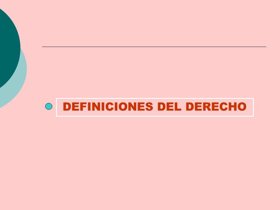 DEFINICIONES DEL DERECHO