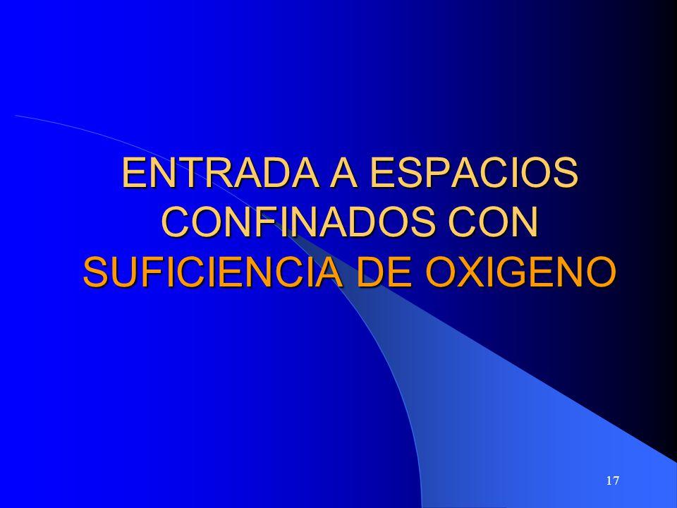 17 ENTRADA A ESPACIOS CONFINADOS CON SUFICIENCIA DE OXIGENO