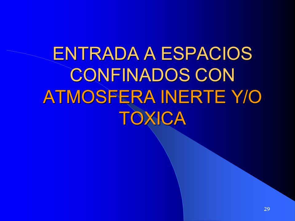 29 ENTRADA A ESPACIOS CONFINADOS CON ATMOSFERA INERTE Y/O TOXICA