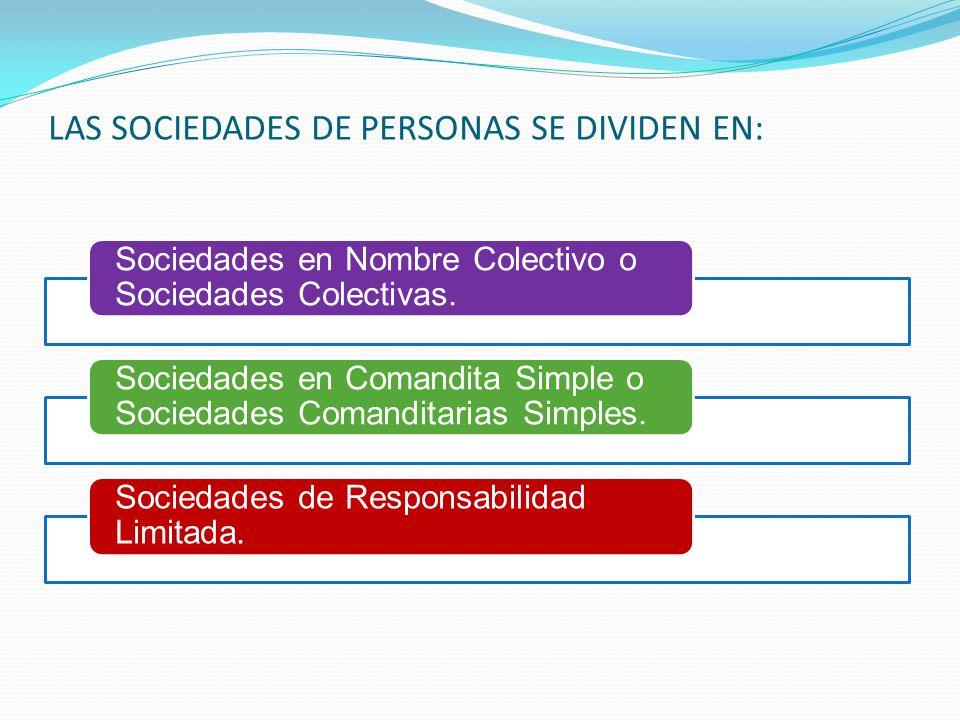 En las sociedades de personas, la calidad personal de los socios es la condición esencial de la voluntad de asociarse. Su capital se integra por cuota