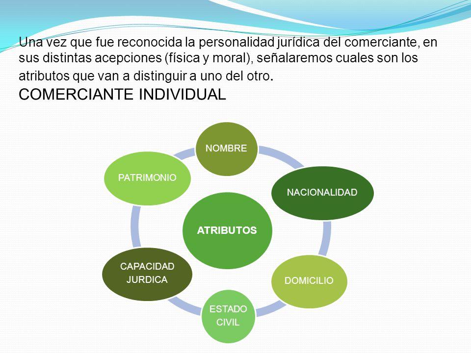 Por tanto, en el comerciante, la personalidad juridica tendra como finalidad distinguir a uno de otro comerciante. La personalidad jurídica de comerci