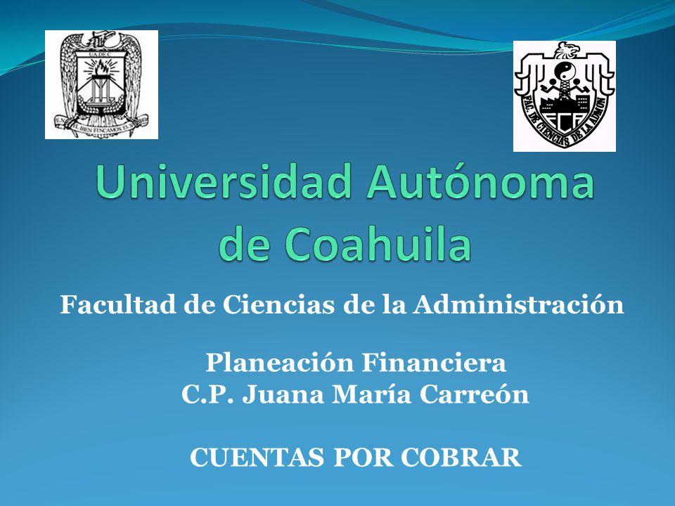 Facultad de Ciencias de la Administración Planeación Financiera C.P.