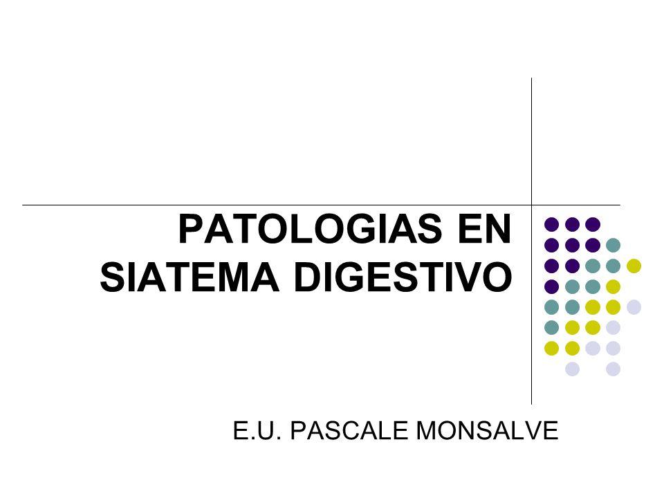 PATOLOGIAS EN SIATEMA DIGESTIVO E.U. PASCALE MONSALVE