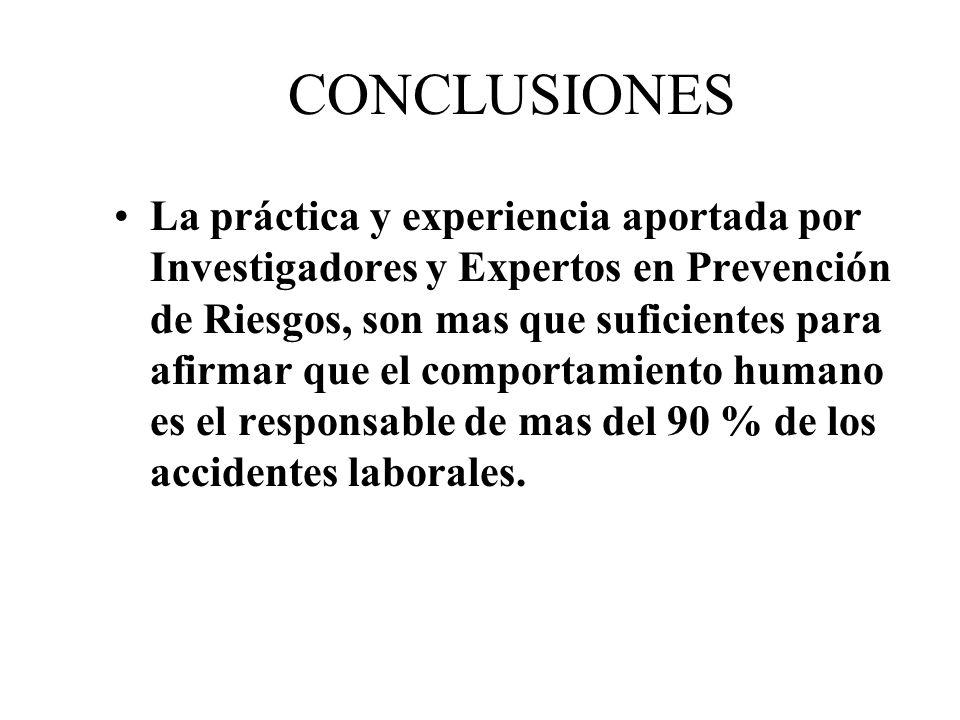 CONCLUSIONES Según E.