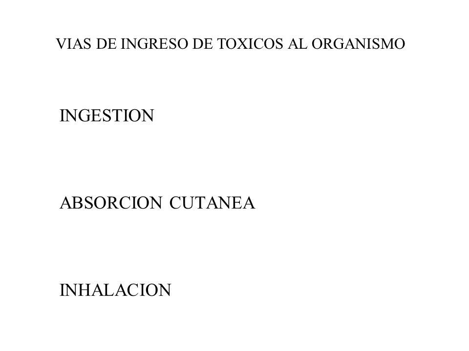 CANCERIGENOS, MUTÁGENOS Y TERATÓGENOS ALERGICOS (reacción del sistema inmunológico) ASFIXIANTES(monóxido de carbono) PRODUCTORES DE DERMATOSIS