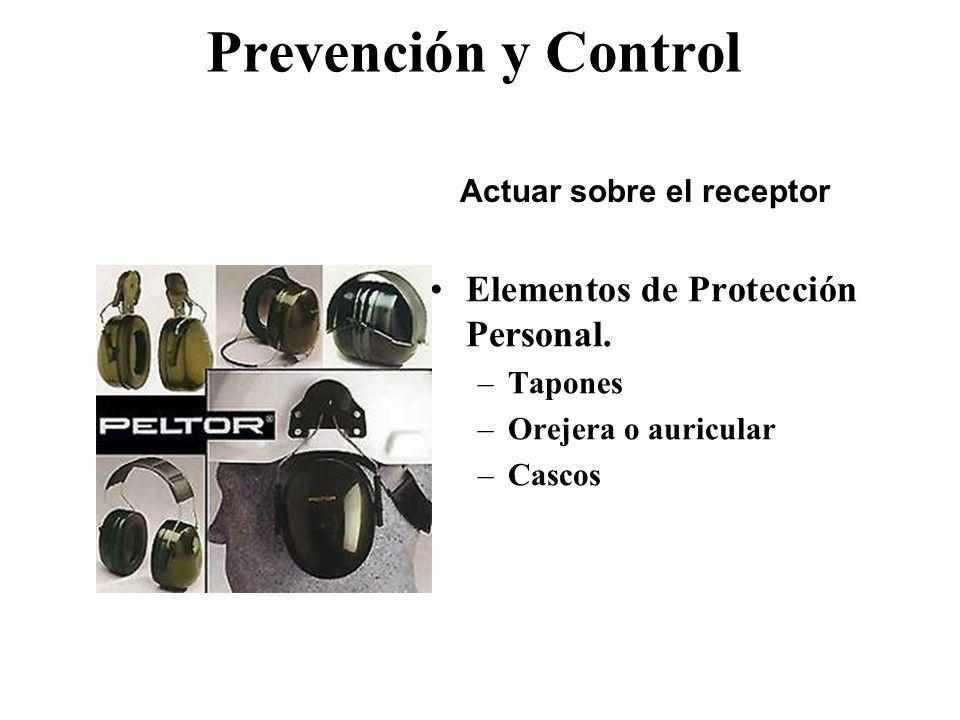 Prevención y Control Aislar (encerrar) los equipos o maquinas ruidosas. Instalar pantallas absorbentes alrededor de máquina. Montar el equipo sobre ai