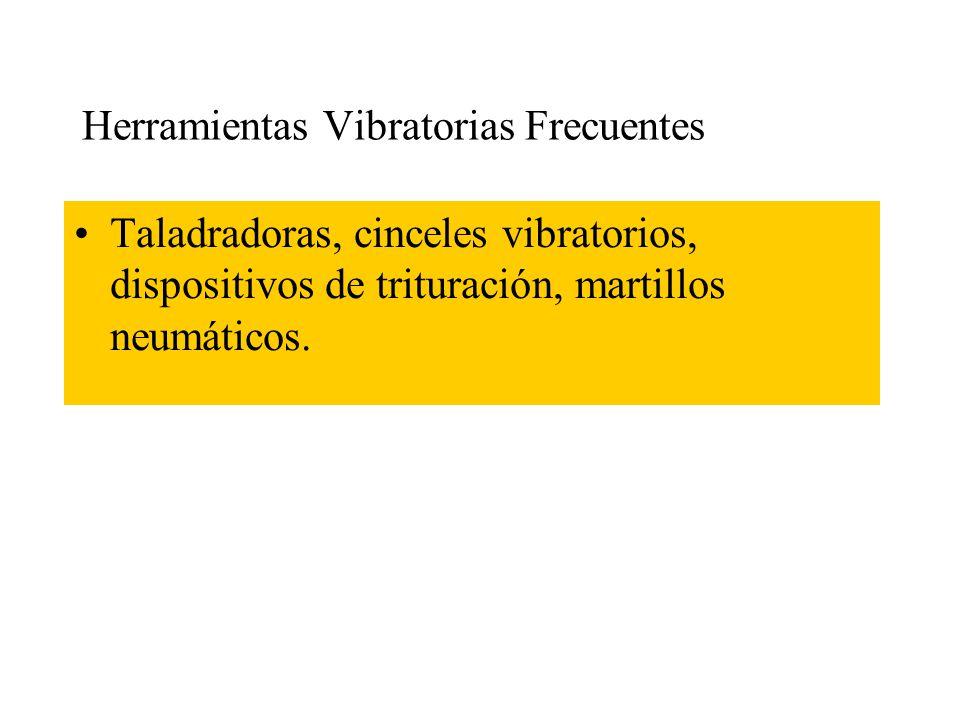Efectos Clínicos Los efectos de las vibraciones en las manos son varios sintomas inespecíficos. Las pertubaciones principales son las que afectan al s